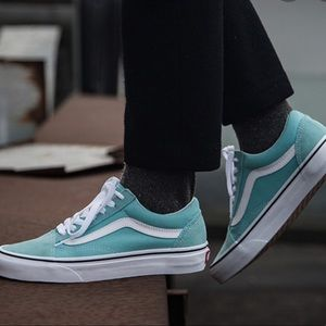 Vans Old Skool Shoes Aqua Haze-True White WMNS